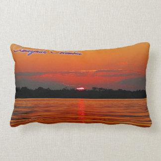 Amazon River Sunset Lumbar Pillow