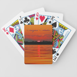 Amazon River Sunset Playing Cards