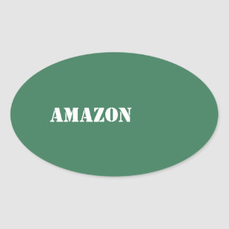 Amazon Oval Sticker