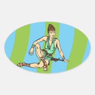 Amazon Women Fantasy Oval Stickers