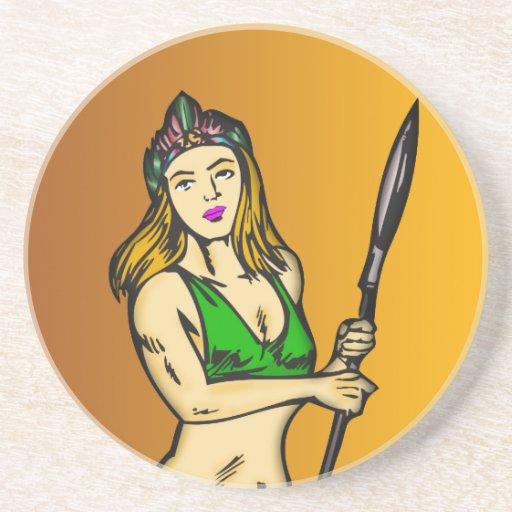 Amazon Women Queen Beverage Coasters