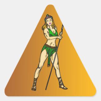 Amazon Women Queen Triangle Stickers