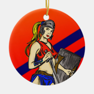 Amazon Women Soldiers Christmas Tree Ornaments
