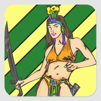Amazon Women Warriors Square Sticker