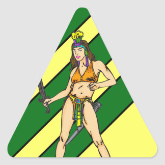 Amazon Women Warriors Triangle Sticker