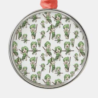 amazonian chibi girls metal ornament