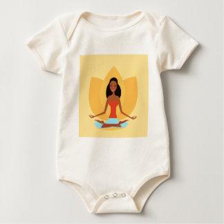 AMAZONIC YOGA PRINCESS WELLNESS GIRL YELLOW BABY BODYSUIT