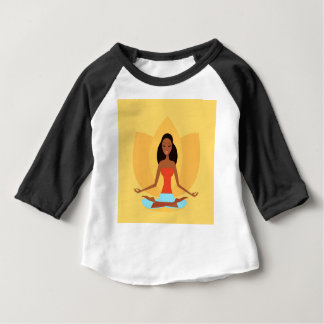 AMAZONIC YOGA PRINCESS WELLNESS GIRL YELLOW BABY T-Shirt