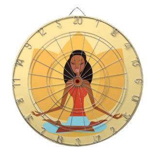 AMAZONIC YOGA PRINCESS WELLNESS GIRL YELLOW DARTBOARD