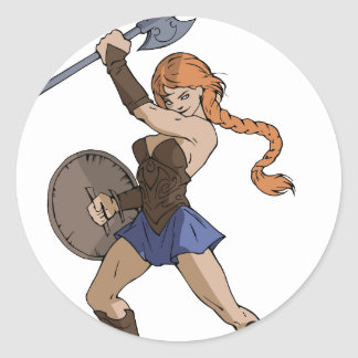 Amazons and Warriors Round Sticker