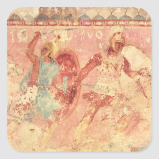 Amazons fighting a Greek warrior Stickers