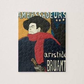 Ambassadeurs: Artistide Bruant by Toulouse Lautrec Jigsaw Puzzle