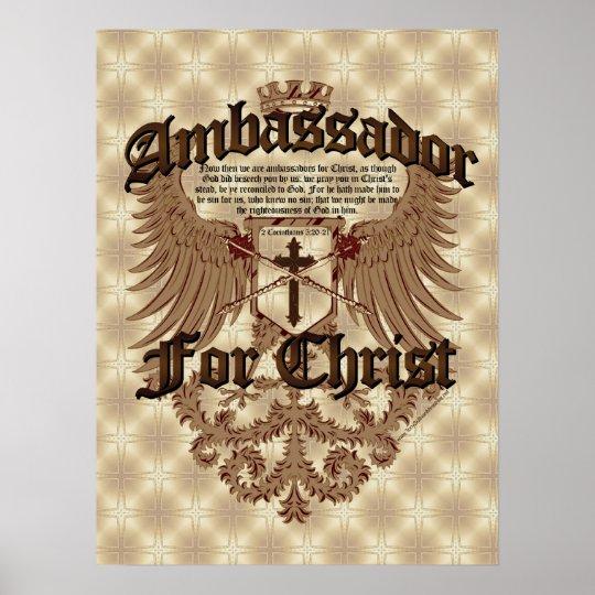Ambassador For Christ, Corinthians Bible Verse Poster