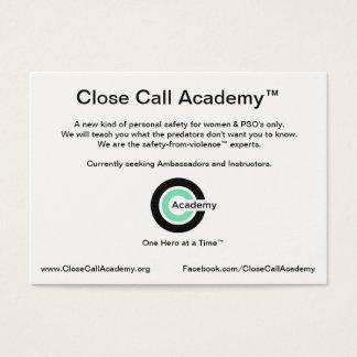 Ambassador & Instructor Information Card