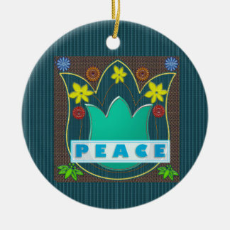 Ambassdor of PEACE Society Nations Artistic GIFTS Christmas Ornament