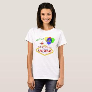 Amber 33rd Las Vegas Birthday Shirt