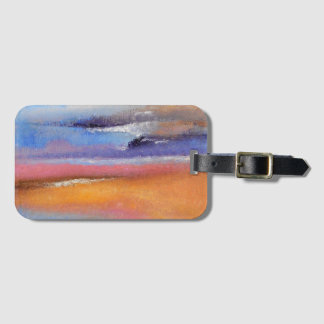 Amber Abstract Luggage Tag