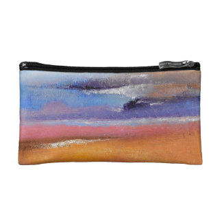 Amber Abstract Small Cosmetic Bag