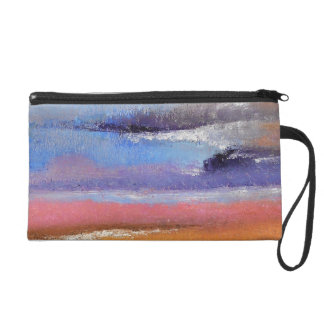 Amber Abstract Wristlet