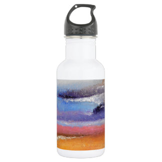 Amber and Blue Abstract Water Bottle