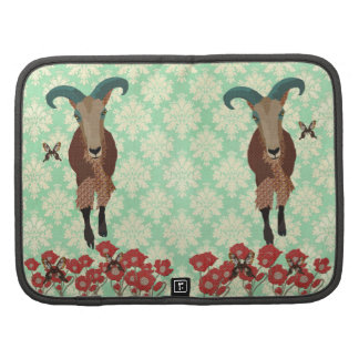 Amber Aoudad Mint Julep Damask Planner
