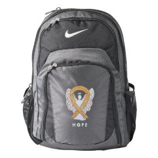 Amber Awareness Ribbon Angel Custom Backpack