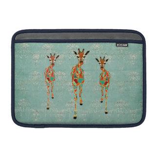 Amber & Azure Giraffes  Macbook Sleeve
