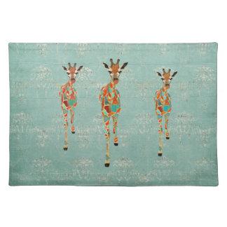 Amber & Azure Giraffes Placemat