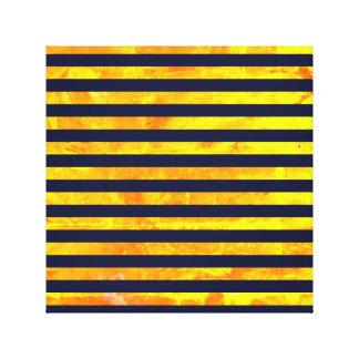 Amber background | stripes pattern canvas print