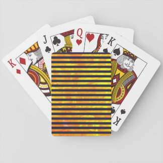 Amber background | stripes pattern playing cards