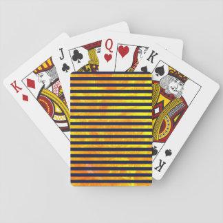 Amber background | stripes pattern poker deck