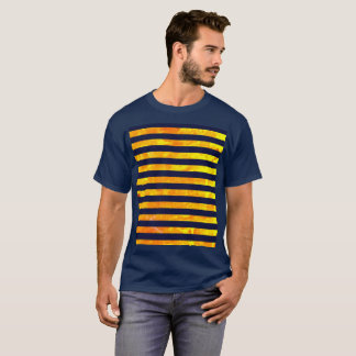 Amber background | stripes pattern T-Shirt