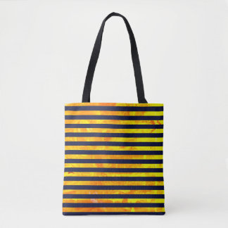Amber background | stripes pattern tote bag