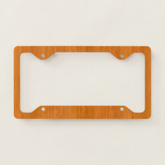 Amber Bamboo Wood Grain Look Licence Plate Frame