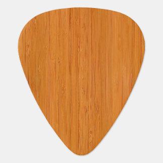 Amber Bamboo Wood Grain Look Plectrum