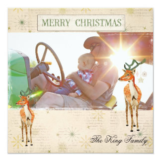 Amber Buck Christmas Photo Card 13 Cm X 13 Cm Square Invitation Card