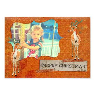 Amber Buck Christmas Photo Card 13 Cm X 18 Cm Invitation Card