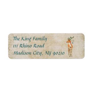 Amber Buck Holiday Address Label
