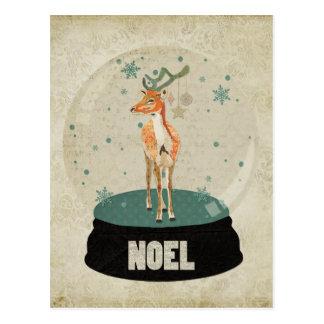 Amber Buck Noel Snowglobe Postcard
