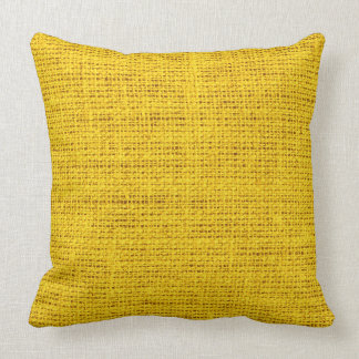 Amber burlap linen background #2 cushion