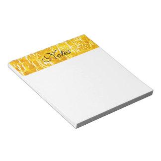 Amber Crackled Glass Design Notepad