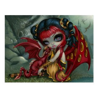 """Amber Dragonling"" Postcard"