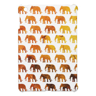 Amber elephants pattern custom background color case for the iPad mini