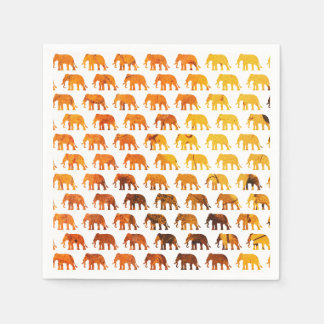 Amber elephants pattern custom background color disposable napkin
