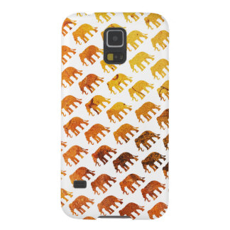 Amber elephants pattern custom background color galaxy s5 cover