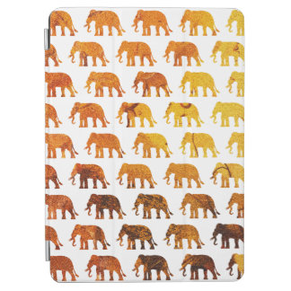 Amber elephants pattern custom background color iPad air cover