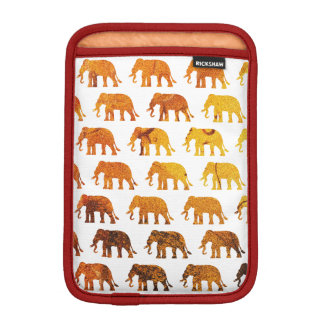 Amber elephants pattern custom background color iPad mini sleeve