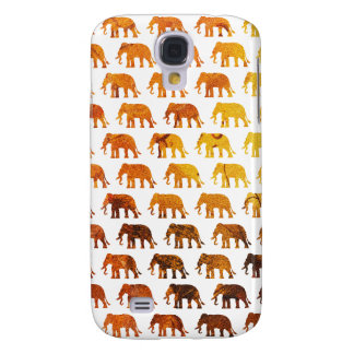Amber elephants pattern custom background color samsung galaxy s4 cases