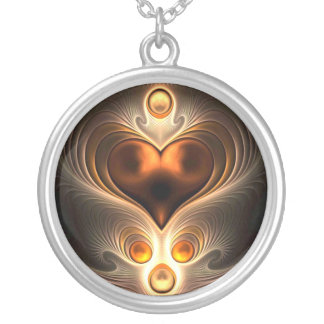 Amber Eternity Heart Necklace