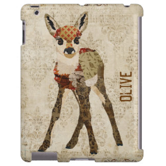Amber Floral Fawn iPad Case